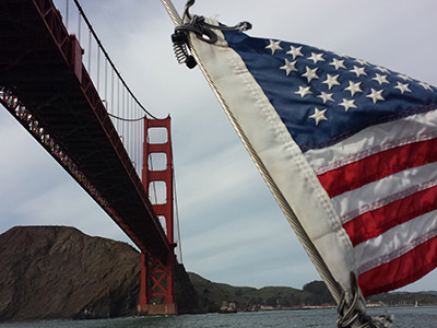 Golden Gate over our Flag