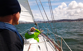 A Veteran Enjoying Sailing on a lovely afternoon on the San Francisco Bay